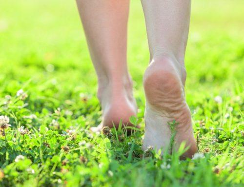 Marcher pieds nus pour puiser l'énergie de la nature