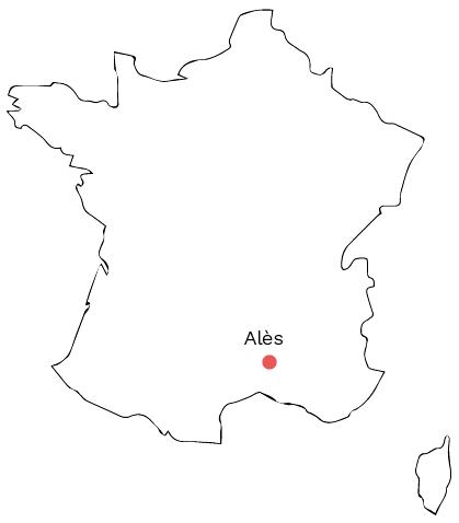 carte de France Ales - séjour Cévennes
